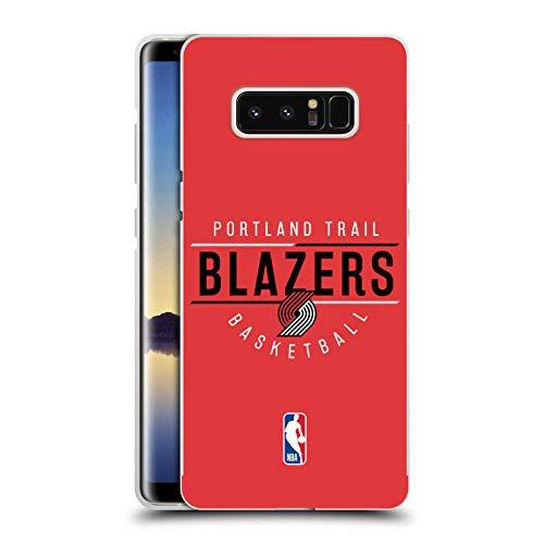 Officiële NBA Logotype 2018/19 Portland Trail Blazers Zilver Metallic Aluminium Bumper Compatibel voor Samsung Galaxy Note8 / Note 8
