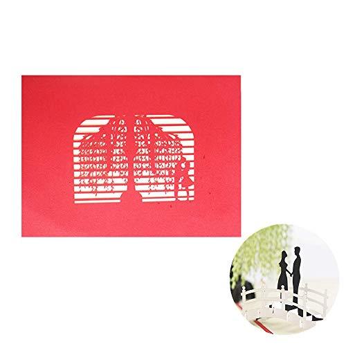 YRJIE Pop-Up Card - 3D Pop Up verjaardagskaart voor haar - Romantische verjaardagskaart, Huwelijksdagskaart voor vrouw, vriendin, partner - Wilg