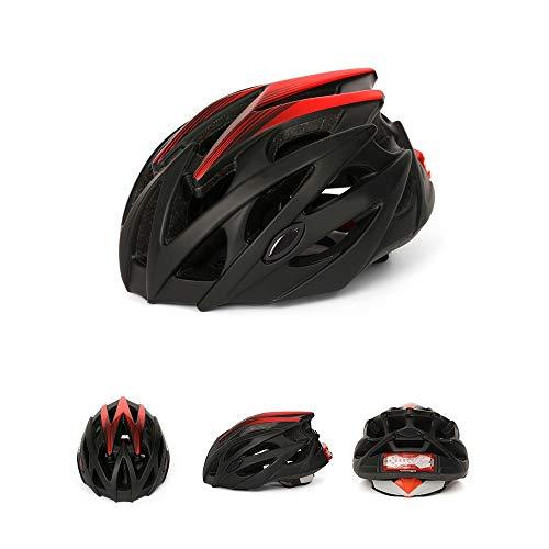 GONGMICF Casco de Bicicleta con señal de Giro Luz Trasera Seguridad Recargable...