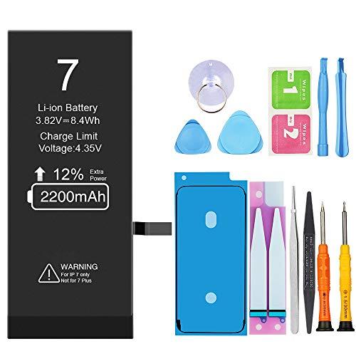 Vancely 2200mAh Batería para iPhone 7 de Alta Capacidad, Batería iPhone 7 con 12% más de Capacidad Que la batería Original y con Kits de Herramientas de reparación, La Garantía de 24 Meses