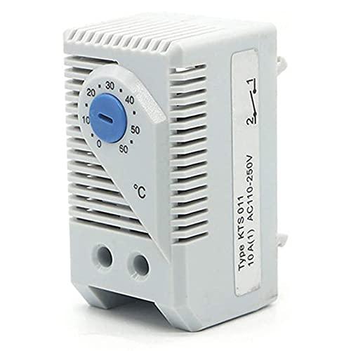 Nirmon Termostato, KTO011 0-60 Celsius Interruptor Controlador de Temperatura Compacto Ajustable Normalmente Cerrado (N.C) para Refrigerador