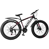 Adult Fat Tire Mountain Bike,Strong Grip Tire Anti-Slip, Aluminum Frame, 21 Speed,Outdoor Bicycle, Holiday for Men and Women Teens