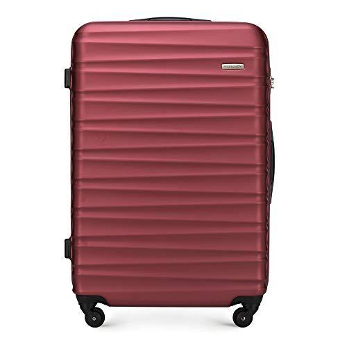 WITTCHEN Koffer – Großer | hartschalen, Material: ABS | hochwertiger und Stabiler | Rot | 96 L | 77x29x52 cm