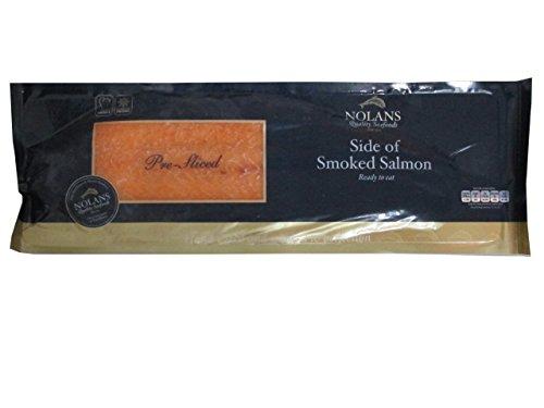 Lachs aus Irland, mild geräuchert, 1 kg-Lachsseite, geschnitten.