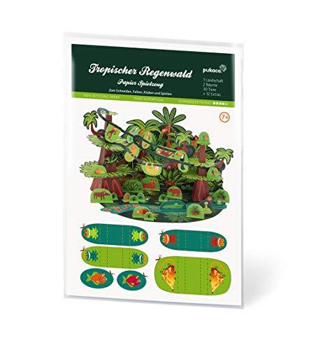 Forum Traiani Bastelbogen Tropischer Regenwald - Pukcaka DIY Bastelbögen Papier-Karton für Kindergeburtstag als Geschenkidee, Bastelidee für Jungs und Mädchen