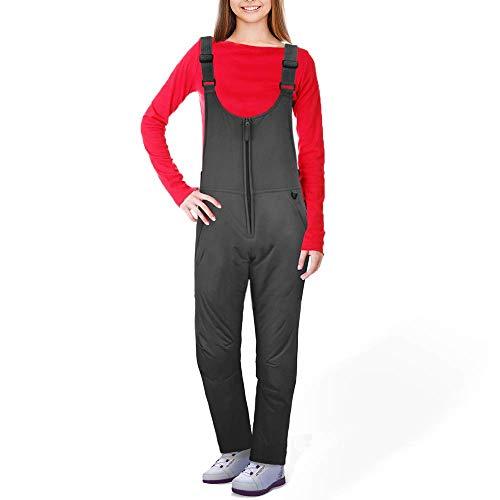 Ohuhu Tute da Donna Essenziale Imbottita e Isolante, Pantaloni con Bretelle da Sci da Neve Invernali,Taglia (XXL)