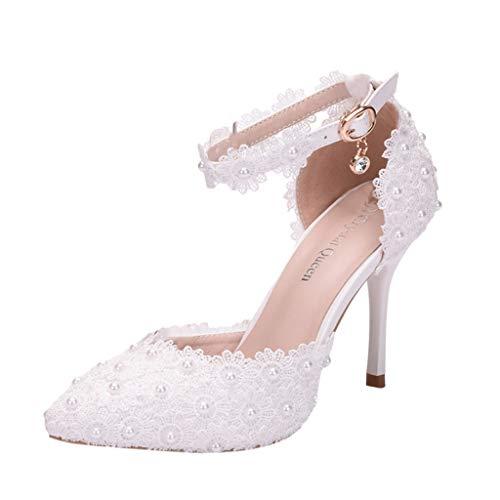 pequeño y compacto Sandalias Mujer Verano Tacones finos Cristal Mujer Punta puntiaguda Zapatos de baile de fiesta …