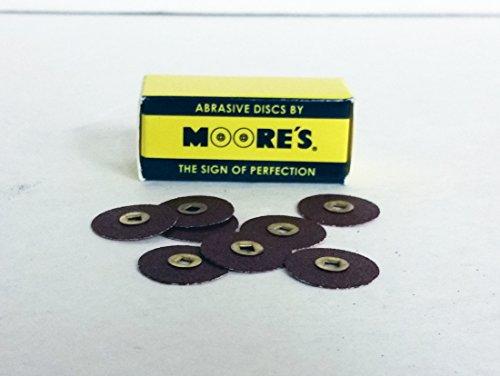 Moores EC-34-AC Paper Brass Center Abrasive Discs - Adalox (Aluminum Oxide) Coarse, 3/4 50/pk
