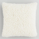 Ivory Curly Mongolian Faux Fur Throw Pillow | World Market