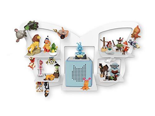 Regal für Toniebox für über 40 Tonies, Regal für Kinder Sammelset Schmetterling - Zubehör für die Toniebox - Geeignet für über 40 Tonies - Magnetisch beliebig fixierbar
