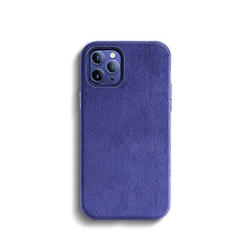 Schutzhülle für iPhone 12 Mini, Alcantara, Kunstleder, matt, Blau