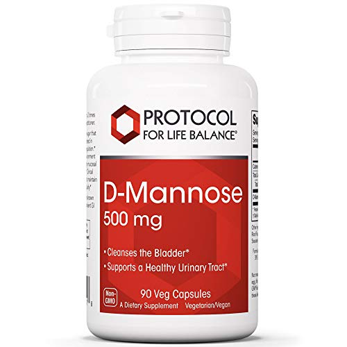 Protocol For Life Balance - D-Mannose 500 mg - Supports a Healthy Urinary, Gastrointestinal (GI) Tract and Digestive System, Helps Cleans and Detoxify Your Body - 90 Veg Capsules
