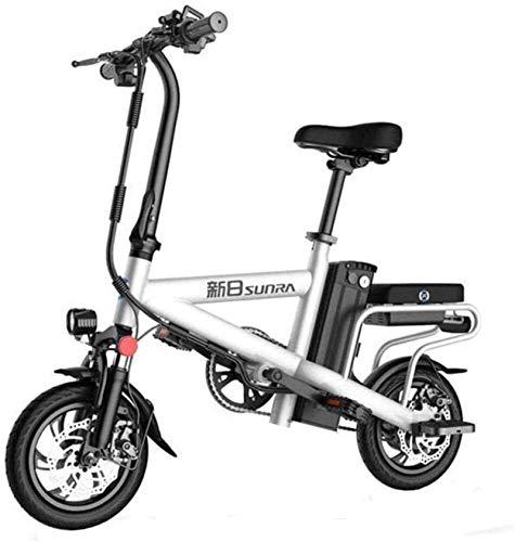 Bicicleta eléctrica de nieve, Bicicletas rápidas y Eléctrica en adultos de 12 pulgadas ruedas ligeras y material de aleación de aluminio plegable bicicleta eléctrica con Bicicletas Pedales 48V de ione