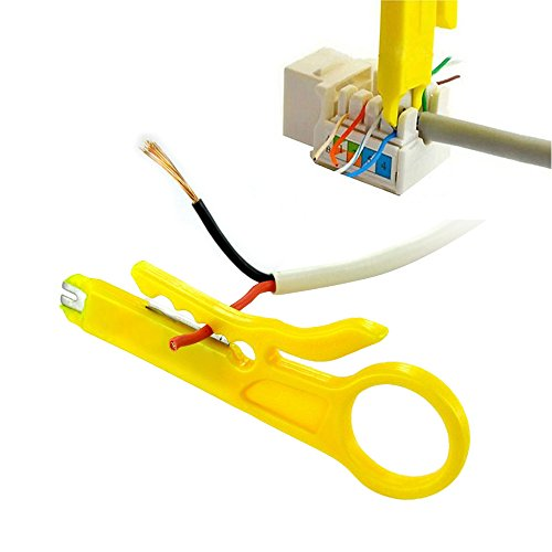 Vastar Network Wire Punch Down Impact Tool with Two Blades - 110 and BK & Network Wire Stripper