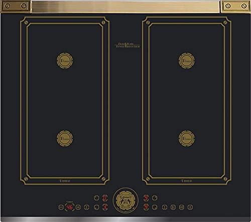 Kaiser KCT 6745 FI AD- Plaque de cuisson à induction 60 cm/plaque à induction/plaques métalliques Bronze/vitrocéramique avec 4 plaques à induction Qic