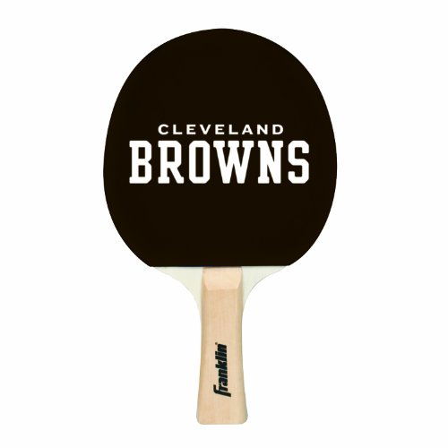 Franklin Sports Cleveland Browns Table Tennis Paddle - NFL Team Table Tennis Paddles - Official Team Logos and Colors - Fun NFL Game Room Accessories