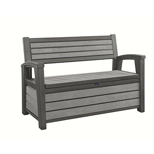 Keter Hudson Bench Cojín Caja, 227L, Antracita, 132,7X 62,1x 89cm