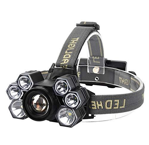 SPTIDY Head-Mounted LED Phares, 7 LED Super Bright USB Rechargeable Étanche Phare Lampe Frontale pour La Course Camping Nuit Pêche À La Randonnée,2pcs