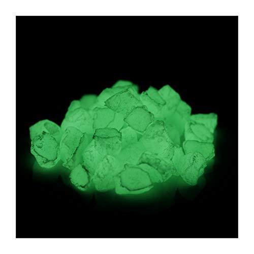 lumentics Leucht-Steine - Im Dunkeln nachleuchtende Steinstücke. Selbst wiederaufladende Dekosteine. Leuchtende UV-Steine. (ungiftig, regenerativ) (300g, Grün)