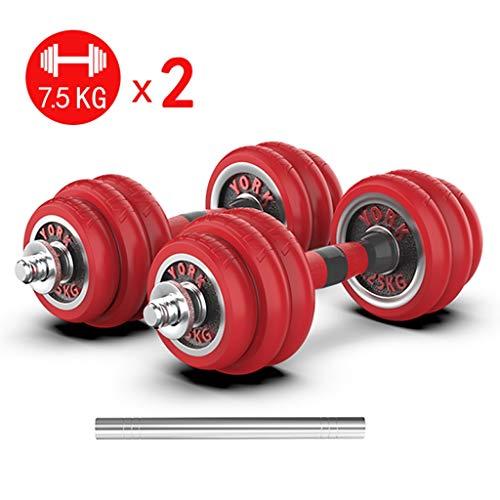 alyf Juego de mancuernas de 7,5 kg x 2 pesas ajustables para entrenamiento de fuerza, pérdida de peso, banco de entrenamiento, equipo de gimnasio y equipos de ejercicio en casa