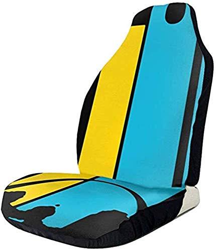 Du-shop Vintage St. Louis Missouri Skyline Friedenszeichen Autositzbezüge Auto Matte Bezüge Fahrzeugschutz Passend für die meisten Autos