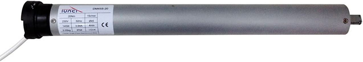 Motor profesional para persiana domestica Motorline TUB-EFRA para eje octogonal de 60mm con central de control y mando a distancia inal/ámbrico ELEVACI/ÓN HASTA 35KG