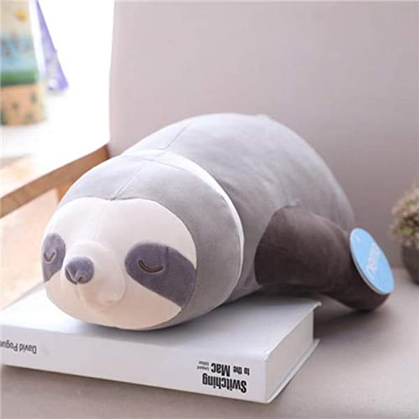 KoreaFashion 65 80 100Cm Big Cute Simulation Stuffed Sloth Toy Plush Sloths Soft Pillow Animal Dolls Kids Birthday Gift Must Have 5 Year Old Girl Gifts My Favourite Superhero Party Supplies