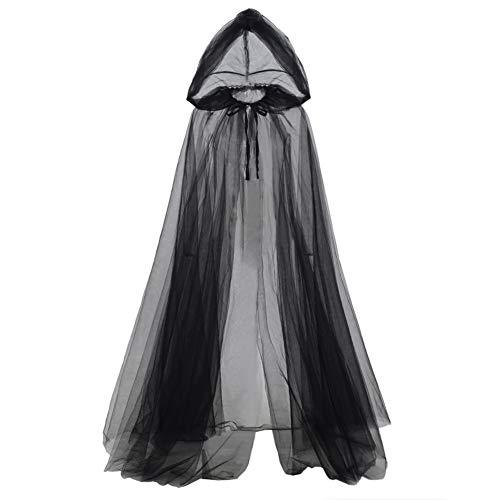 GRACEART Umhang mit Kapuze Zubehör für Halloween-Kostüm Mantel Böse Königin Cosplay Kostüme Lange Vampir (schwarz)
