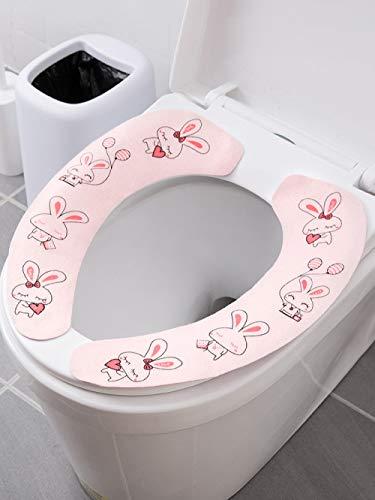 LFchujian Zelfklevende toiletbril, toiletbril, toiletbril, toiletbril, toiletbril, toiletbril, toiletbril, toilethoes, herhaaldelijk schoonmaken, vier sets
