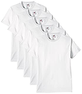 Fruit of the Loom - 61-212 - T-shirt (Lot de 5) - Homme - Blanc - Taille: M (B00UC14QT8) | Amazon price tracker / tracking, Amazon price history charts, Amazon price watches, Amazon price drop alerts