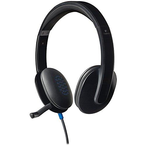 Logitech 981000510 H540 Corded Headset, USB, Black