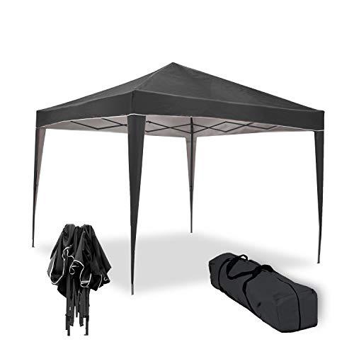 Carpa Plegable 3x3m Master Negra de jardín, terraza, Camping, Playa