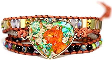 HaiFiy Romantic Spiritual Be super welcome Chakra Leather Outstanding Wrap Mix W St Bracelets