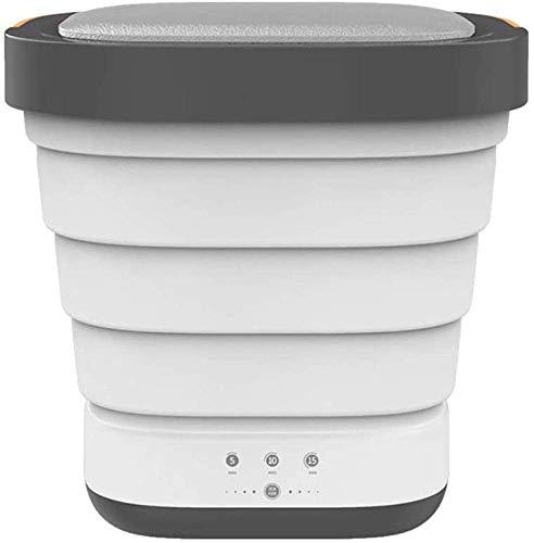 Giow Mini Ropa Plegable portátil Cubo de Viaje automático Viaje en casa Conducción Independiente Ropa Interior Plegable Lavadora y Secadora, Gris