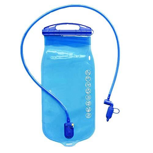 Hydratation vessie 1L Fuite Réservoir d'eau Preuve de Stockage d'eau Sac vessie pour la randonnée Escalade Vélo Cyclisme Course à Pied Bleu 1pc