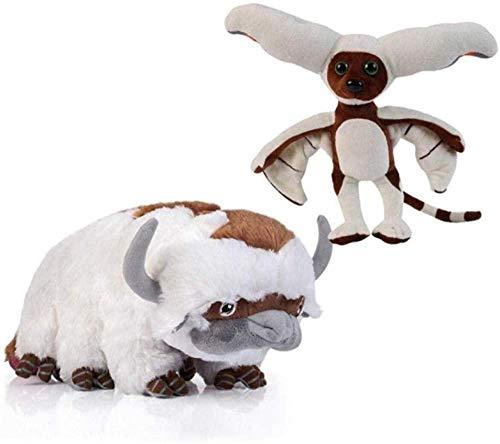 DTJY Der letzte Airbender Avatar Appa Momo Figur Tierspielzeug Plüschpuppe Appa-Momo und Appa