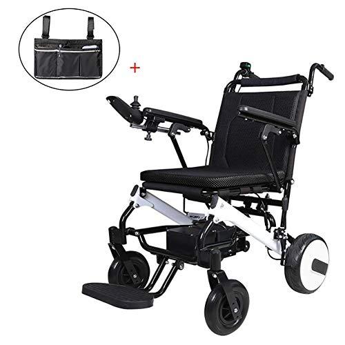 GUTYRE Faltbare Elektro-Rollstuhl mit Aufbewahrungstasche, Automatische Leichten Gehhilfe, Elektrischer Energie oder manueller Manipulation Rollstuhl für senioren kann, Reisen 20km