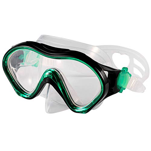Fpxnb Kids Swim Mask, Swimming Goggles with Nose Cover, Snorkel Mask Diving Mask for Scuba Snorkeling, Anti-Fog Lens Waterproof Socket 180° View Angle Face Mask for Youth Children Junior Teens