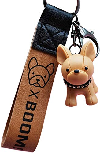 htrdjhrjy Ungewöhnlich Mode Französisch Punk Bulldogge Schlüsselanhänger Pu-Leder Hund Schlüsselanhänger für Damen Tasche Charm Schmuckdose Herren Auto Schlüsselanhänger Schlüsselanhänger - Ap