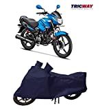 TricWay Bike Body Cover for Hero Glamour with Water Resistant Polyester Fabric Navy