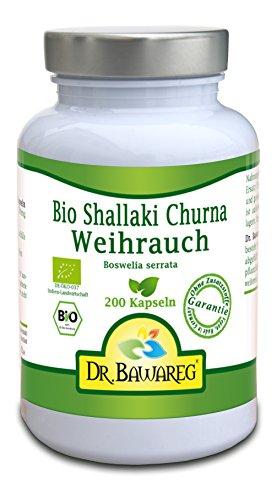 BIO-Weihrauch - Boswelia serrata - 200 Vegi-Kapseln - ohne Zusatzstoffe - Dr. Bawareg