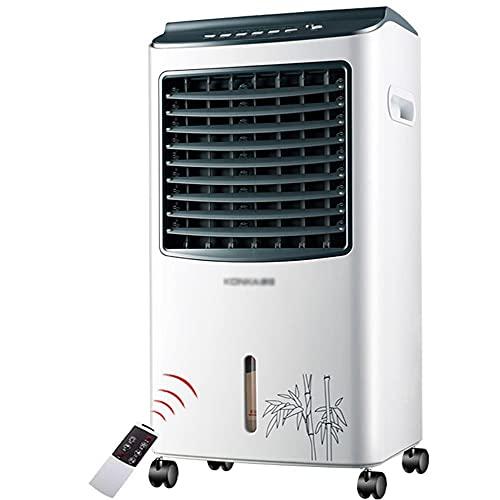 Enfriador de Aire , Acondicionador de aire portátil, refrigerador de aire del ventilador Silent 3 Block Velocidad del viento, Bomba de agua lavable, Tanque de agua visual, Desmontaje fácil neto a prue
