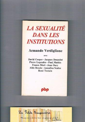 La Sexualité dans les institutions