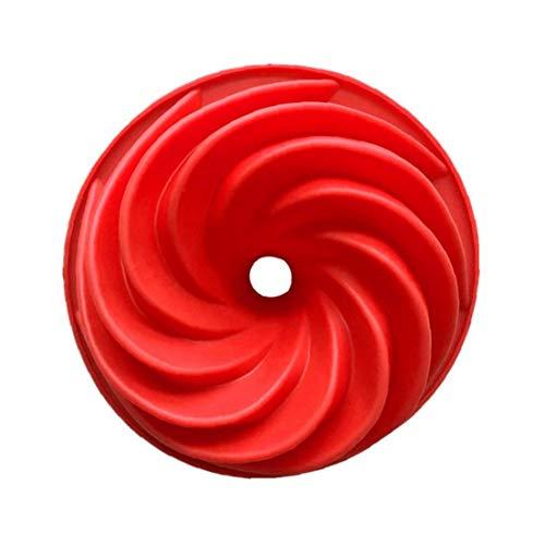 Pastel de silicona del molde del remolino forma de la torta del molde de silicona del molde del molde de la torta de mantequilla pasta de azúcar de silicona moldes de cocción de alimentos Herramientas