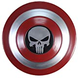 Escudo Capitan America Metal 1: 1 Adulto Apoyos de Película Niños Hierro Forjado CapitáN AméRica Shield Vengadores Capitán América Disfraz de Metal Shield G,47CM