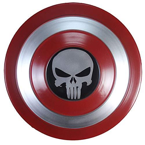 Escudo Capitan America Metal 1: 1 Adulto Apoyos de Pelcula Nios Hierro Forjado CapitN AmRica Shield Vengadores Capitn Amrica Disfraz de Metal Shield G,47CM