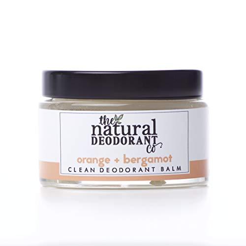 Clean Deodorant Balm Orange + Bergamot 55g by The Natural Deodorant Co. - Certified cruelty-free and vegan, plastic-free, ultra-effective 24hr deodorant balm