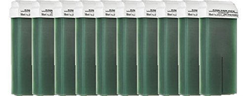 10 Cartouches de cire à épiler VERT, épilation avec bande,PUREWAX By Purenail, Livraison Gratuite en France