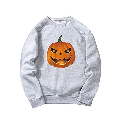YingeFun Mens Graphics Hoodies Halloween Fleece Pullover Novelty Sport Sweatshirt Teen Plain Simple Tops Fall & Winter Gray