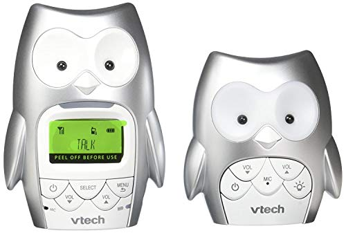 VTech DM225 Owl Audio Baby Monitor with up to 1,000 ft of Range, Vibrating Sound-Alert, Talk-Back Intercom, Digitized Transmission & Night Light (Renewed)